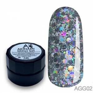 Глиттер-гель Akinami - Арт. AGG02 Glitter Gel 02