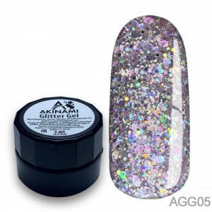Глиттер-гель Akinami - Арт. AGG05 Glitter Gel 05