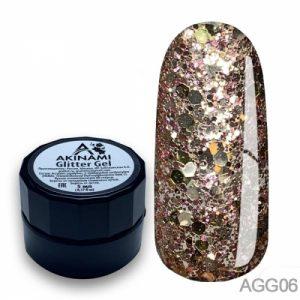 Глиттер-гель Akinami - Арт. AGG06 Glitter Gel 06